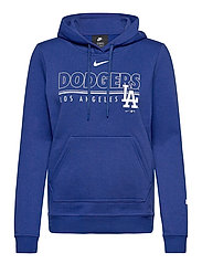 LA Dodgers Nike Team Outline Club Pullover Hoodie - RUSH BLUE