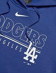 NIKE Fan Gear - LA Dodgers Nike Team Outline Club Pullover Hoodie - hettegensere - rush blue - 3