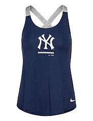 New York Yankees Nike Legacy Dri-Fit Elastika Tank Top - MIDNIGHT NAVY - MEDIUM SILVER