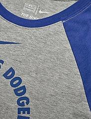 NIKE Fan Gear - LA Dodgers Nike Encircled Tri-Blend 3/4-Sleeve - longsleeved tops - dark grey heather - rush blue - 2