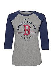 Boston Red Sox Nike Encircled Tri-Blend 3/4-Sleeve Raglan - DARK GREY HEATHER - MIDNIGHT NAVY