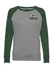 Green Bay Packers Nike Left Chest Logo Gym Vintage - DARK GREY HEATHER / FIR