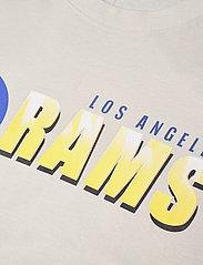 NIKE Fan Gear - Los Angeles Rams Nike Logo Name Colorblock T-Shirt - t-shirts - light bone / hyper royal - 2
