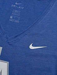 NIKE Fan Gear - LA Dodgers Nike Mesh Logo Fashion Vneck T-Shirt - t-skjorter - rush blue heather - 2