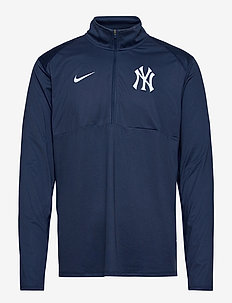 New York Yankees Nike Cap Logo Element Half-Zip Performance - mid layer jackets - midnight navy