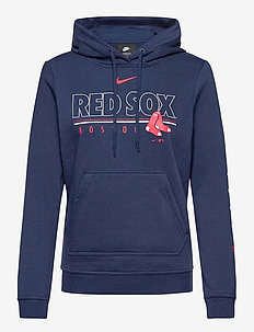 Boston Red Sox Nike Team Outline Club Pullover Hoodie - hoodies - midnight navy