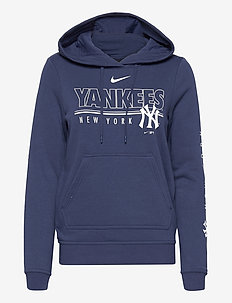New York Yankees Nike Team Outline Club Pullover Hoodie - hoodies - midnight navy