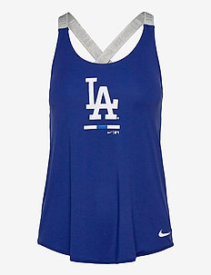 LA Dodgers Nike Legacy Dri-Fit Elastika Tank Top - topjes - rush blue - medium silver