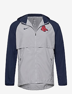 Boston Red Sox Nike Mesh Logo Essential Hooded Jacket - sports jackets - wolf grey