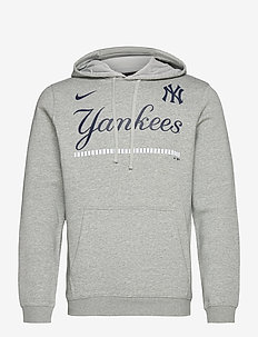 New York Yankees Nike Color Bar Club Pullover Hoodie - huvtröjor - dark grey heather