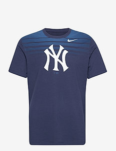 New York Yankees Nike Stripe Fade Tri-Blend T-Shirt - t-shirts - midnight navy