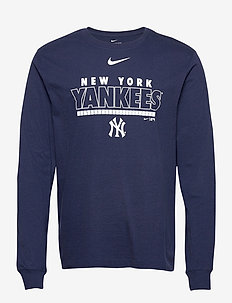 New York Yankees Nike Color Bar Long Sleeve T-Shirt - t-shirts - midnight navy