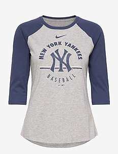 New York Yankees Nike Encircled Tri-Blend 3/4-Sleeve - longsleeved tops - dark grey heather - midnight navy