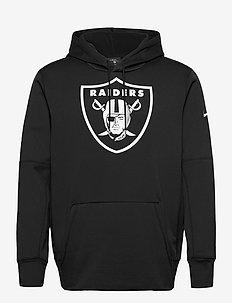 Las Vegas Raiders Nike Prime Logo Therma Pullover Hoodie - hættetrøjer - black