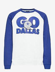 Dallas Cowboys Nike Go Helmet Historic Raglan - sweats - white / old royal