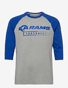 Los Angeles Rams Nike Wordmark Football All 3/4-Sleeve - pitkähihaiset topit - dark grey heather / hyper royal