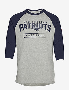 New England Patriots Nike Wordmark Football All 3/4-Sleeve - langermede topper - dark grey heather / college navy