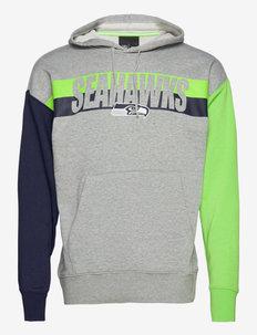 Seattle Seahawks Nike Wordmark Long Sleeve Heritage Hoodie - hoodies - dark grey heather / action green / college navy