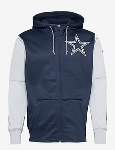 Dallas Cowboys Nike Left Chest Mascot Full-Zip - basic sweatshirts - college navy / field silver