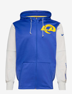 Los Angeles Rams Nike Left Chest Mascot Full-Zip - basic sweatshirts - hyper royal / light bone