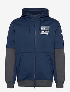 Dallas Cowboys Nike Lockup Therma Full Zip Hoodie - huvtröjor - college navy / anthracite