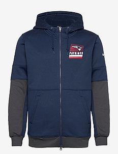 New England Patriots Nike Lockup Therma Full Zip Hoodie - basic sweatshirts - college navy / anthracite