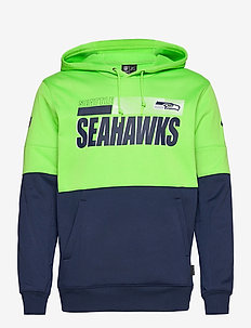 Seattle Seahawks Nike Team Name Lockup Therma - hoodies - action green / college navy
