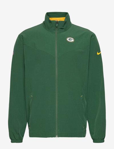 Green Bay Packers Nike Woven FZ Jacket - veste sport - fir-university gold
