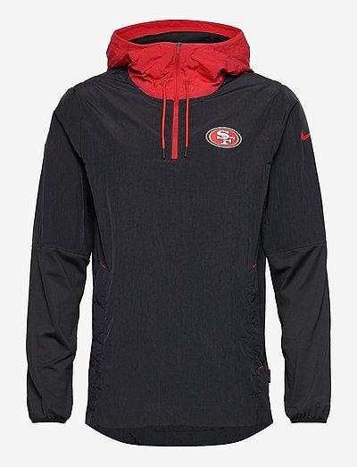 San Francisco 49ers Nike Jacket LWT Player - anoraks - black-gym red