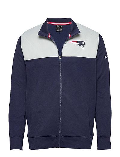New England Patriots Nike Logo Long Sleeve Jacket Dünne Jacke Blau NIKE FAN GEAR