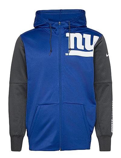 New York Giants Nike Left Chest Mascot Full-Zip Hoodie Pullover Blau NIKE FAN GEAR