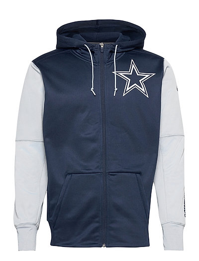 Dallas Cowboys Nike Left Chest Mascot Full-Zip Hoodie Pullover Blau NIKE FAN GEAR