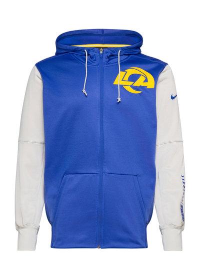 Los Angeles Rams Nike Left Chest Mascot Full-Zip Hoodie Pullover Blau NIKE FAN GEAR