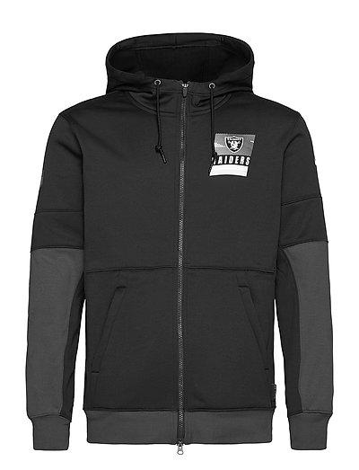 Las Vegas Raiders Nike Lockup Therma Full Zip Hoodie Hoodie Pullover Schwarz NIKE FAN GEAR