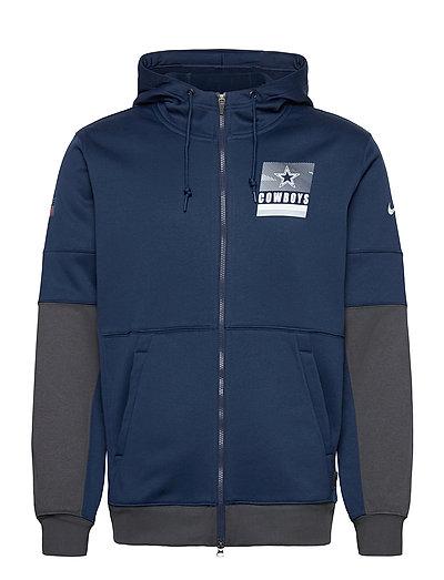 Dallas Cowboys Nike Lockup Therma Full Zip Hoodie Hoodie Pullover Blau NIKE FAN GEAR