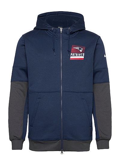 New England Patriots Nike Lockup Therma Full Zip Hoodie Hoodie Pullover Blau NIKE FAN GEAR