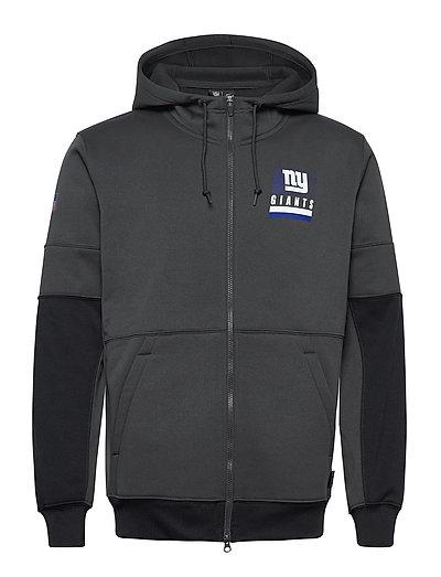 New York Giants Nike Lockup Therma Full Zip Hoodie Hoodie Pullover Schwarz NIKE FAN GEAR