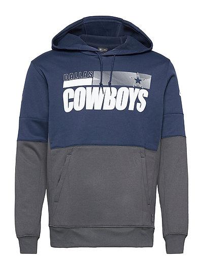 Dallas Cowboys Nike Team Name Lockup Therma Hoodie Pullover Hoodie Pullover Blau NIKE FAN GEAR