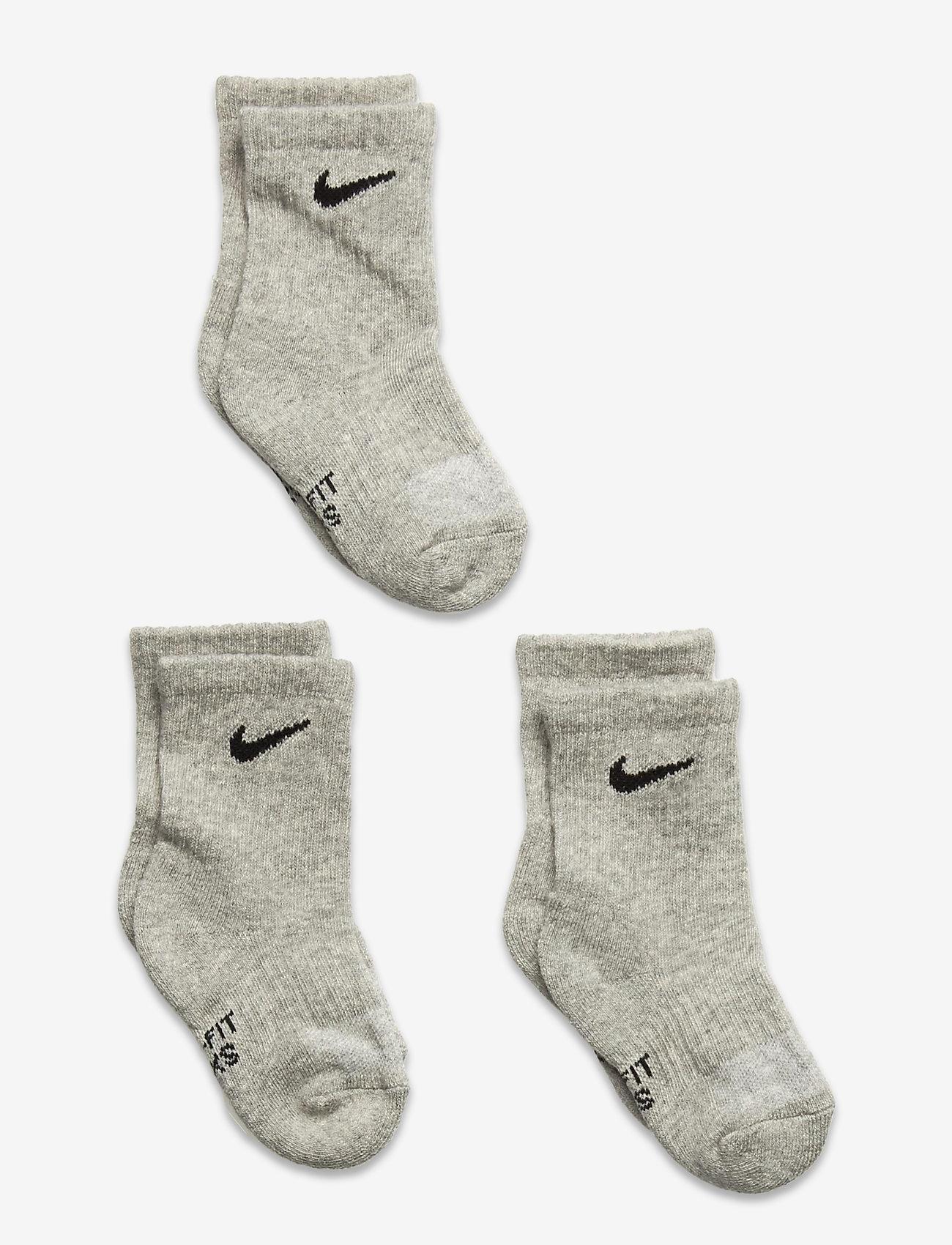 Nike - NHB DF PERFORMANCE BASIC CREW - skarpetki - dk grey heather - 0