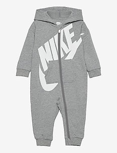 NKN ALL DAY PLAY COVERALL - langärmelig - dk grey heather