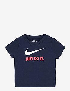 NKB JDI SWOOSH TEE - short-sleeved t-shirts - obsidian/univeristy red