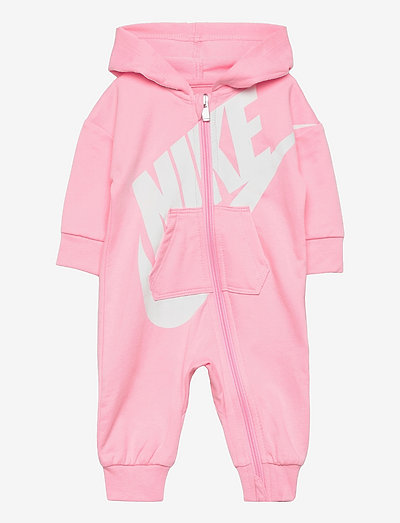 NKN BABY FRENCH TERRY COVERALL - langærmede - pink