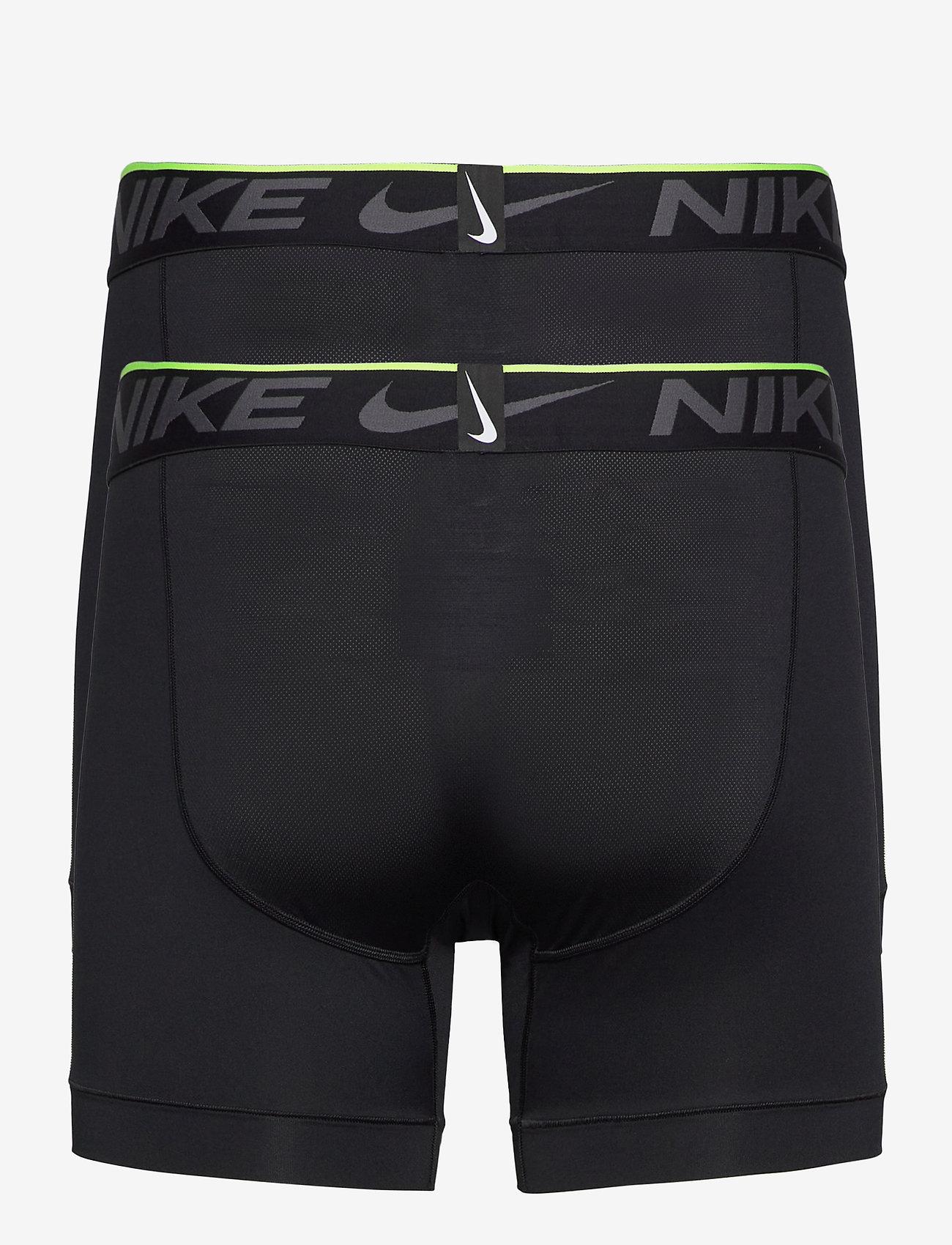NIKE BOXER BRIEF 2PK - Boxershortser BLACK/BLACK - Menn Klær
