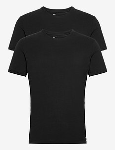 S/S CREW NECK 2PK - t-shirts - black/black