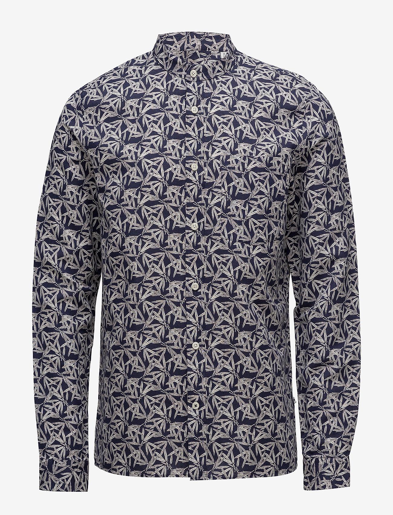 NN07 - Gustav 5018 - chemises de lin - navy print