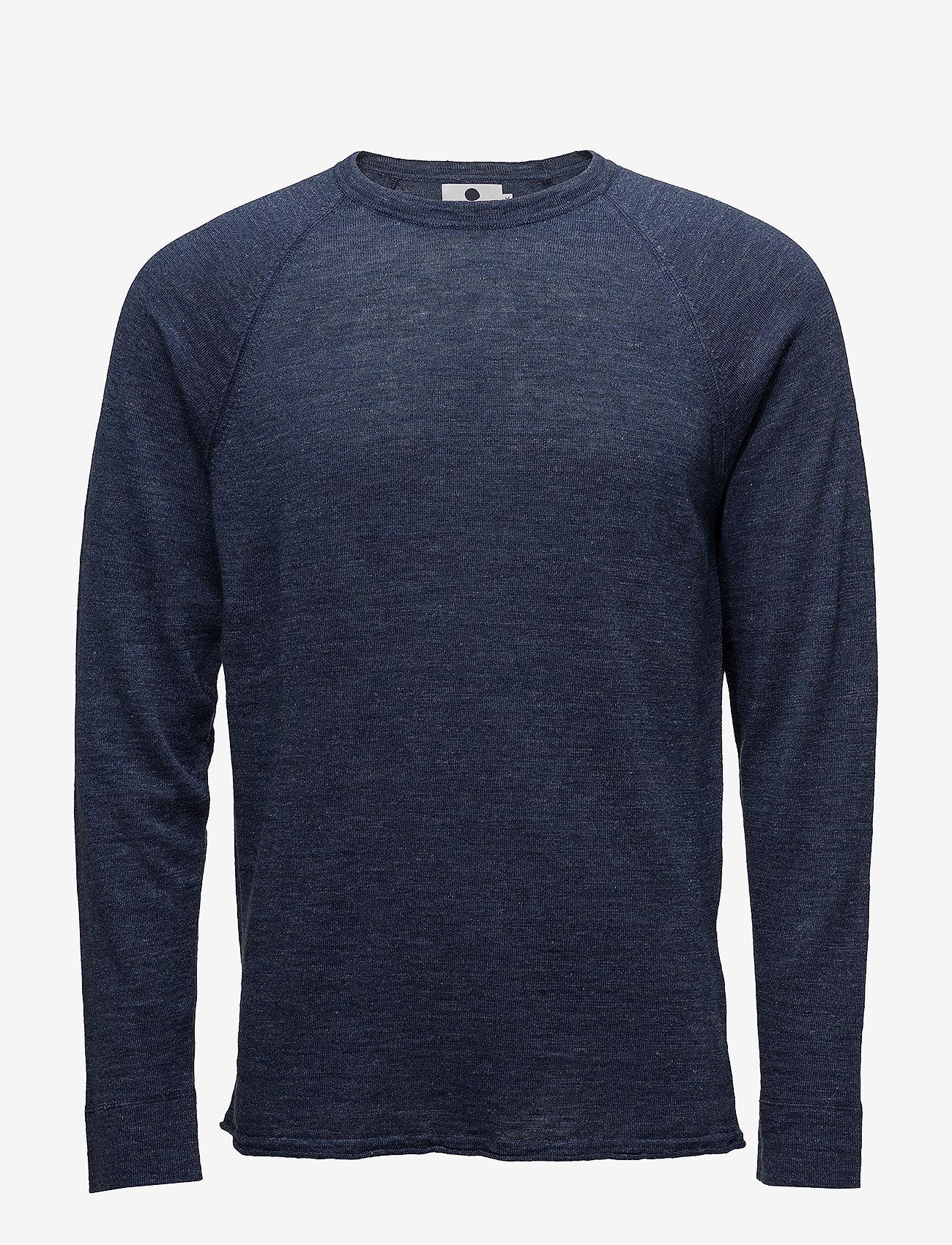 NN07 - Casper 6201 - knitted round necks - navy melange