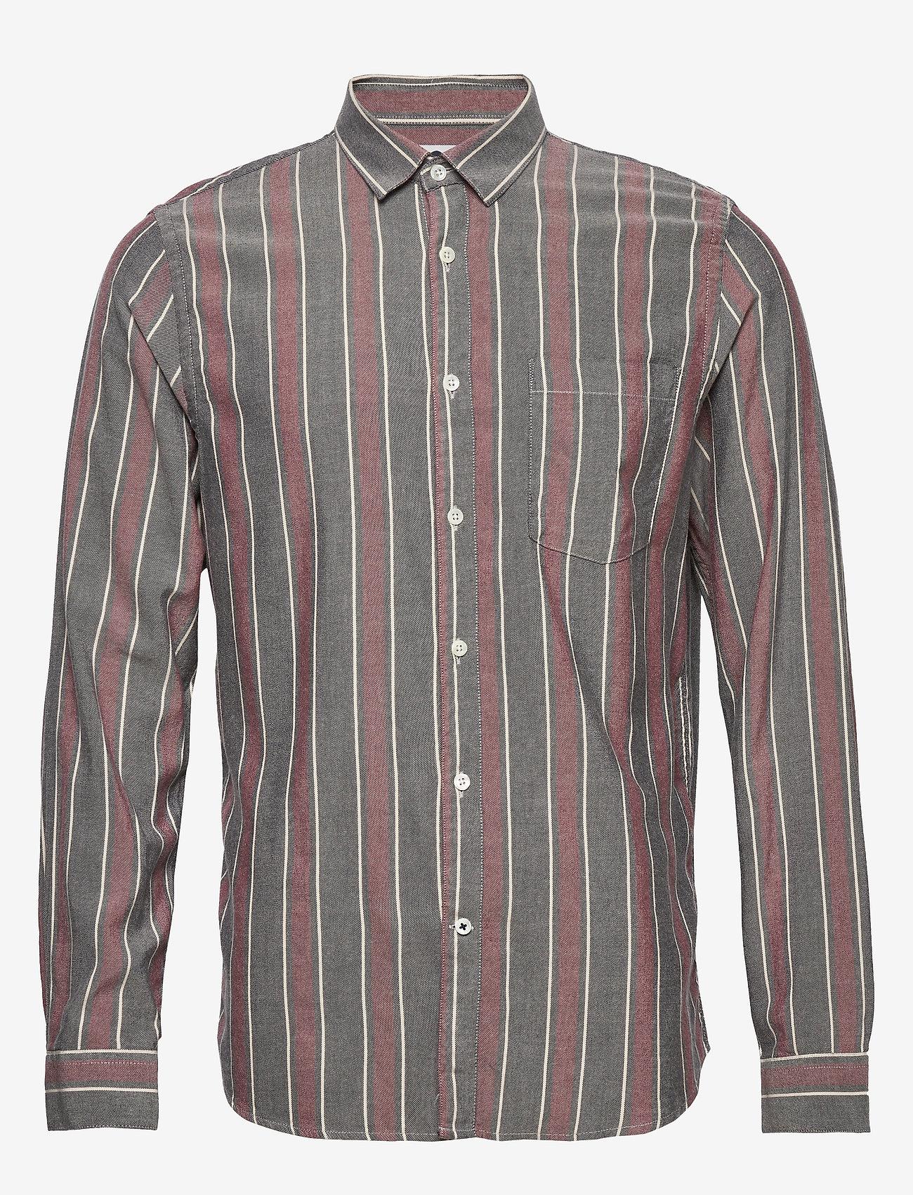 NN07 - Falko 5051 - avslappede skjorter - navy stripe - 0