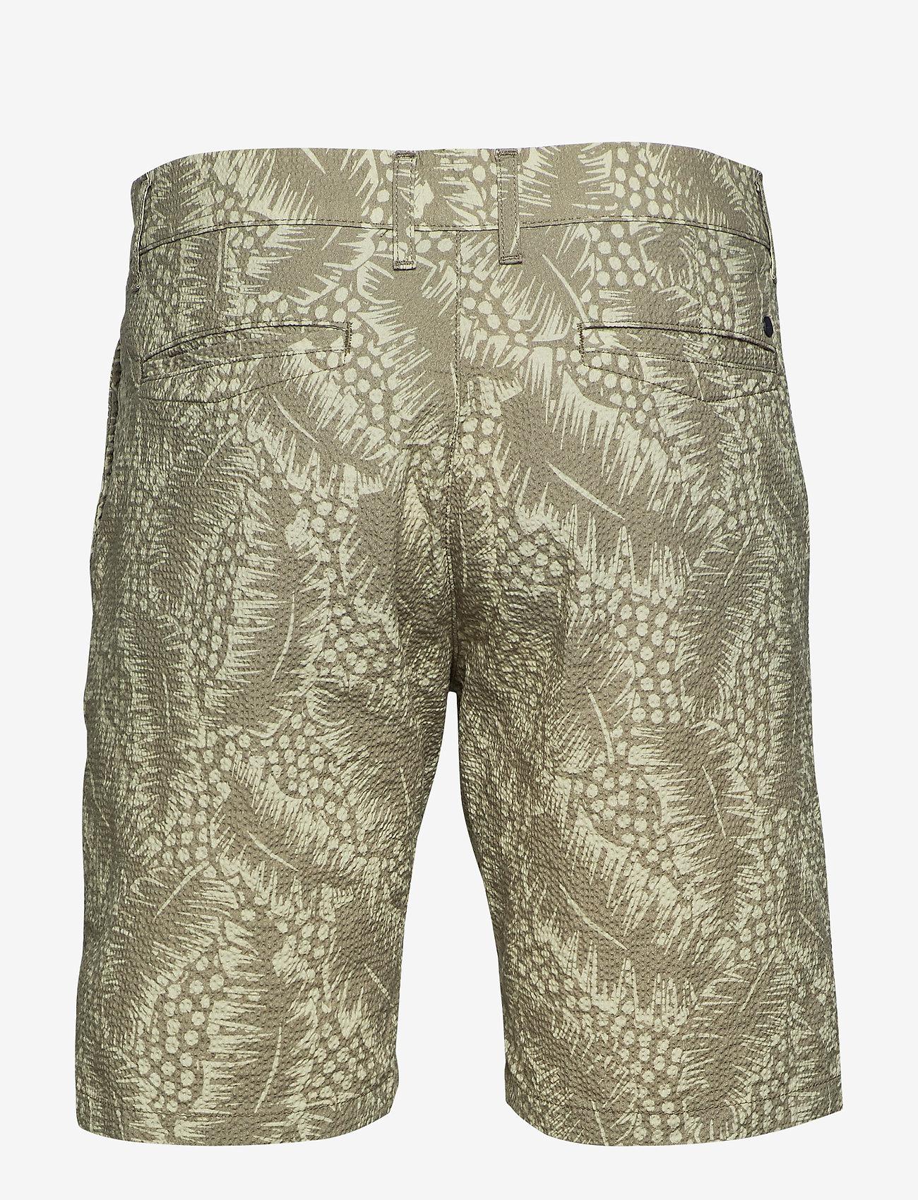 NN07 - Crown Shorts 1382 - casual shorts - green print - 1
