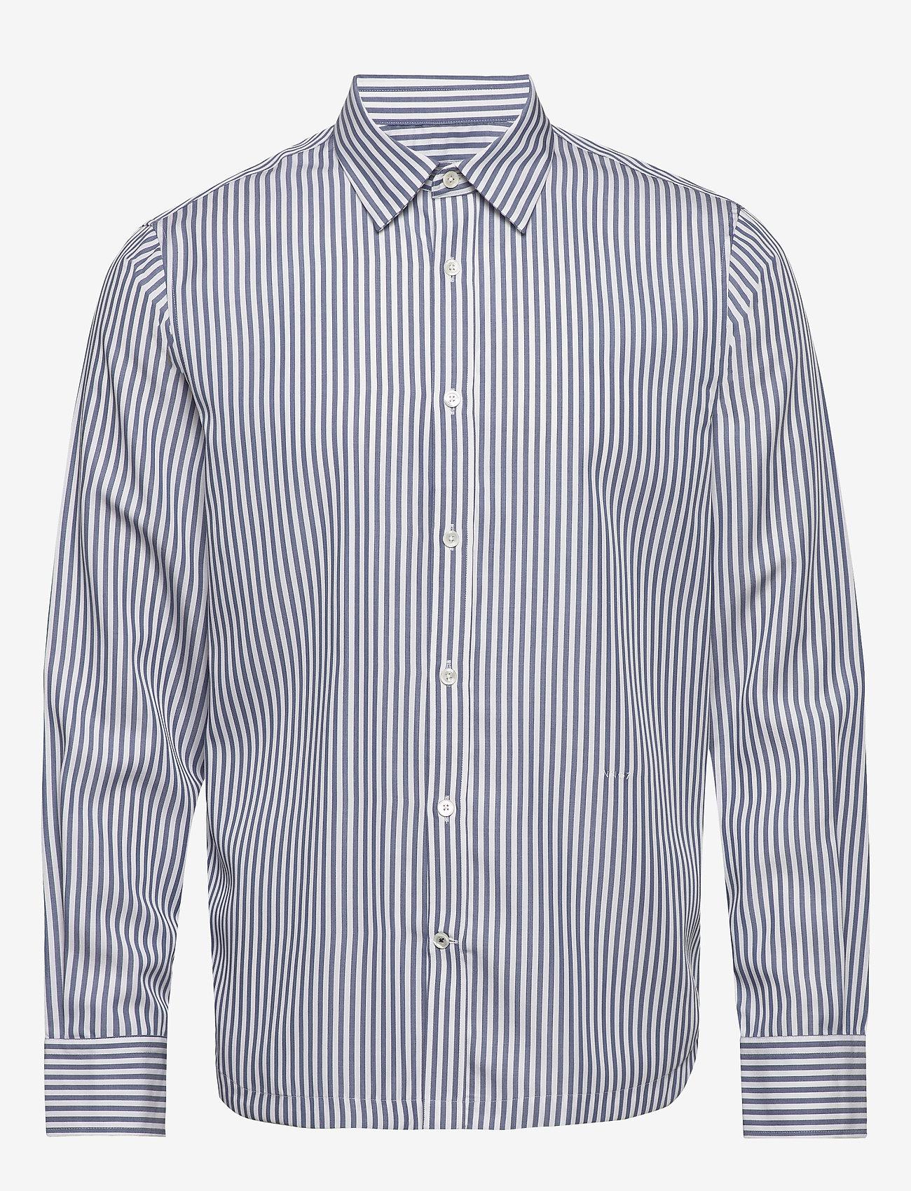NN07 - Mayer 5112 - casual skjortor - blue stripe - 0