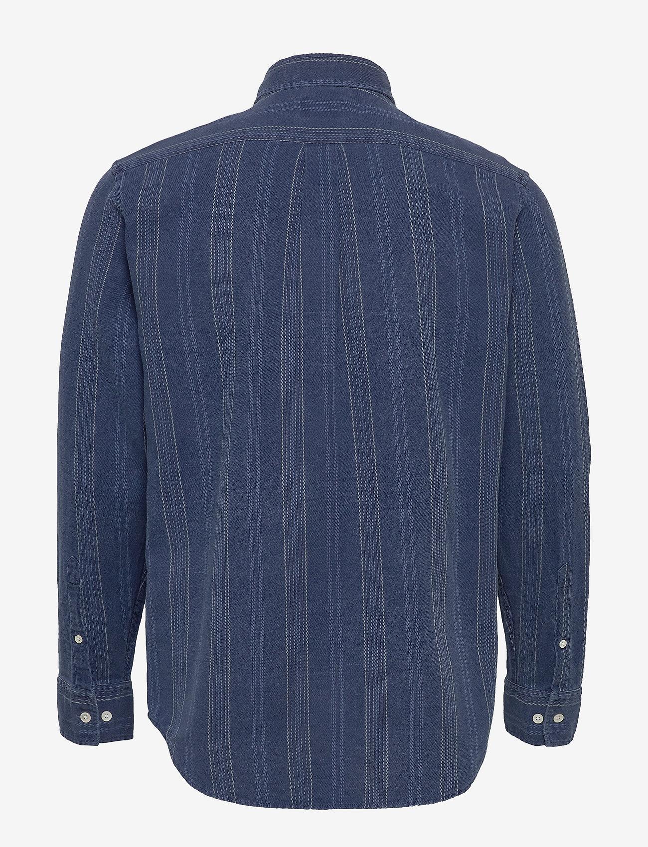NN07 - Levon Shirt 5139 - casual - indigo stripe - 1